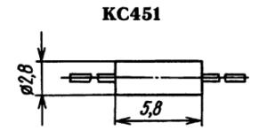 Корпус стабилитрона КС451