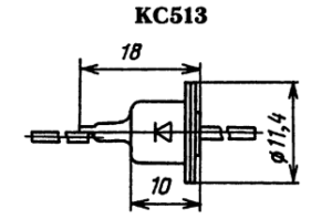 Корпус стабилитрона КС512