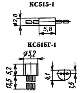 Типы корпусов для стабилитрона КС515-1