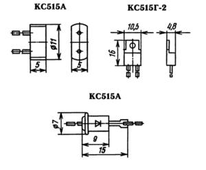 Типы корпусов для стабилитрона КС515