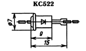 Корпус стабилитрона КС522