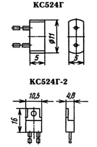 Типы корпуса для стабилитрона КС524