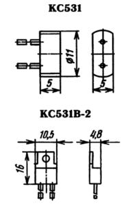 Типы корпусов для стабилитрона КС531