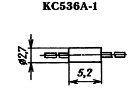 Корпус стабилитрона КС536