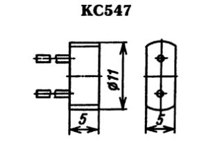 Корпус стабилитрона КС547