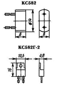 Корпус стабилитрона КС582