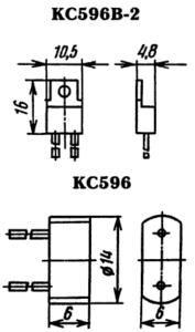Корпус стабилитрона КС596