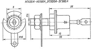 Корпус стабилитронов КС620, КС630, КС650, КС680