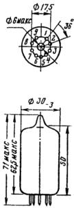 Корпус и цоколевка лампы 2Д2С