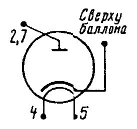 Схема соединения электродов лампы 6Ц10П