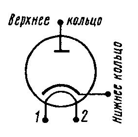 Схема соединения электродов лампы 6Д13Д