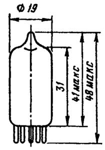 Корпус ламп 6Х2П, 6Х2П-ЕВ, 6Х2П-ЕР