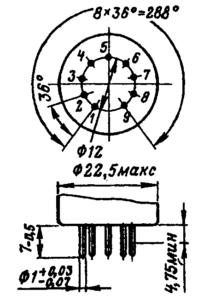 Цоколь миниатюрных ламп с диаметром 22,5 мм