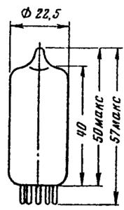 Корпус лампы 6Н1П