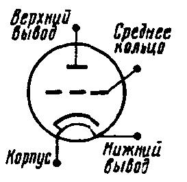 Схема соединения электродов лампы 6С17К-В