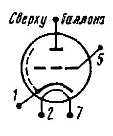 Схема соединения электродов лампы 6С20С