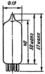 Корпус лампы 6Н15П
