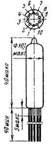 Корпус лампы 6Н21Б