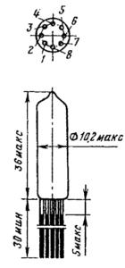 Корпус ламп 6Н16Б, 6Н16Б-В, 6Н16Б-ВИ, 6Н16Б-И