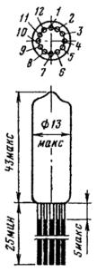 Корпус лампы 6Н16Г-ВИР