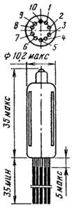 Корпус лампы 6Н28Б-В