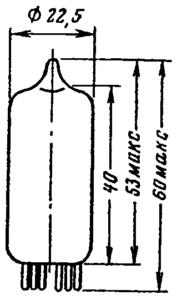 Корпус лампы 6Н3П