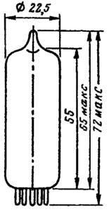Корпус лампы 6Н6П