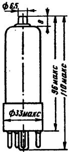 Корпус лампы 6П13С