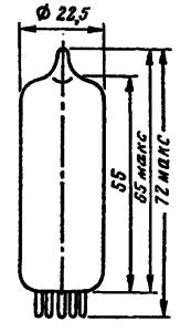 Корпус лампы 6П1П