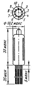 Корпус лампы 6Ж45Б-В