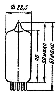 Корпус лампы ECC82