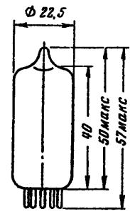 Корпус лампы ECC85