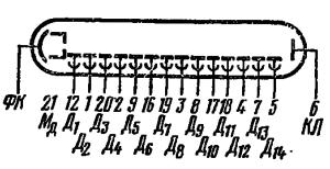 Схема соединения электродов лампы ФЭУ-112