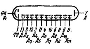 Схема соединения электродов лампы ФЭУ-79