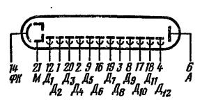 Схема соединения электродов лампы ФЭУ-84
