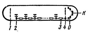 Схема соединения электродов лампы ВЭУ-1