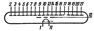 Схема соединения электродов лампы ИВ-17