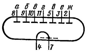 Схема соединения электродов лампы ИВ-26