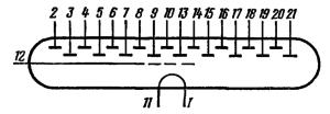 Схема соединения электродов лампы ИВ-4