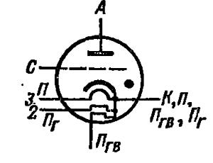Схема соединения электродов лампы ТГИ1-3000/30