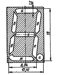 Расположение и условное обозначение анодов-сегментов ИВ-22