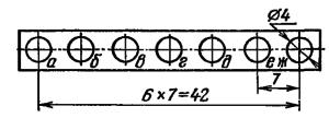 Расположение и условное обозначение анодов ИВ-25