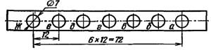 Расположение и условное обозначение анодов ИВ-26