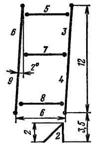 Расположение и условное обозначение сегментов ИВ-9
