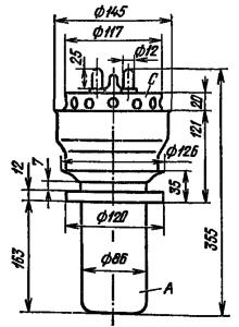 Корпус лампы ГУ-22А