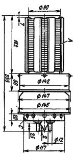 Корпус лампы ГУ-25Б
