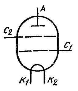 Схема соединения электродов лампы ГУ-61