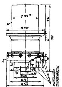 Корпус лампы ГУ-61А. Для ГУ-61Б диаметр анода с радиатором 202 мм, для ГУ-61П - 165 мм.