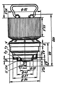 Корпус лампы ГИ-33Б