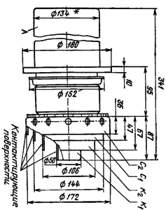 Корпус лампы ГУ-76А. Для ГУ-76Б диаметр анода с радиатором 224 мм, для ГУ-76П - 144
